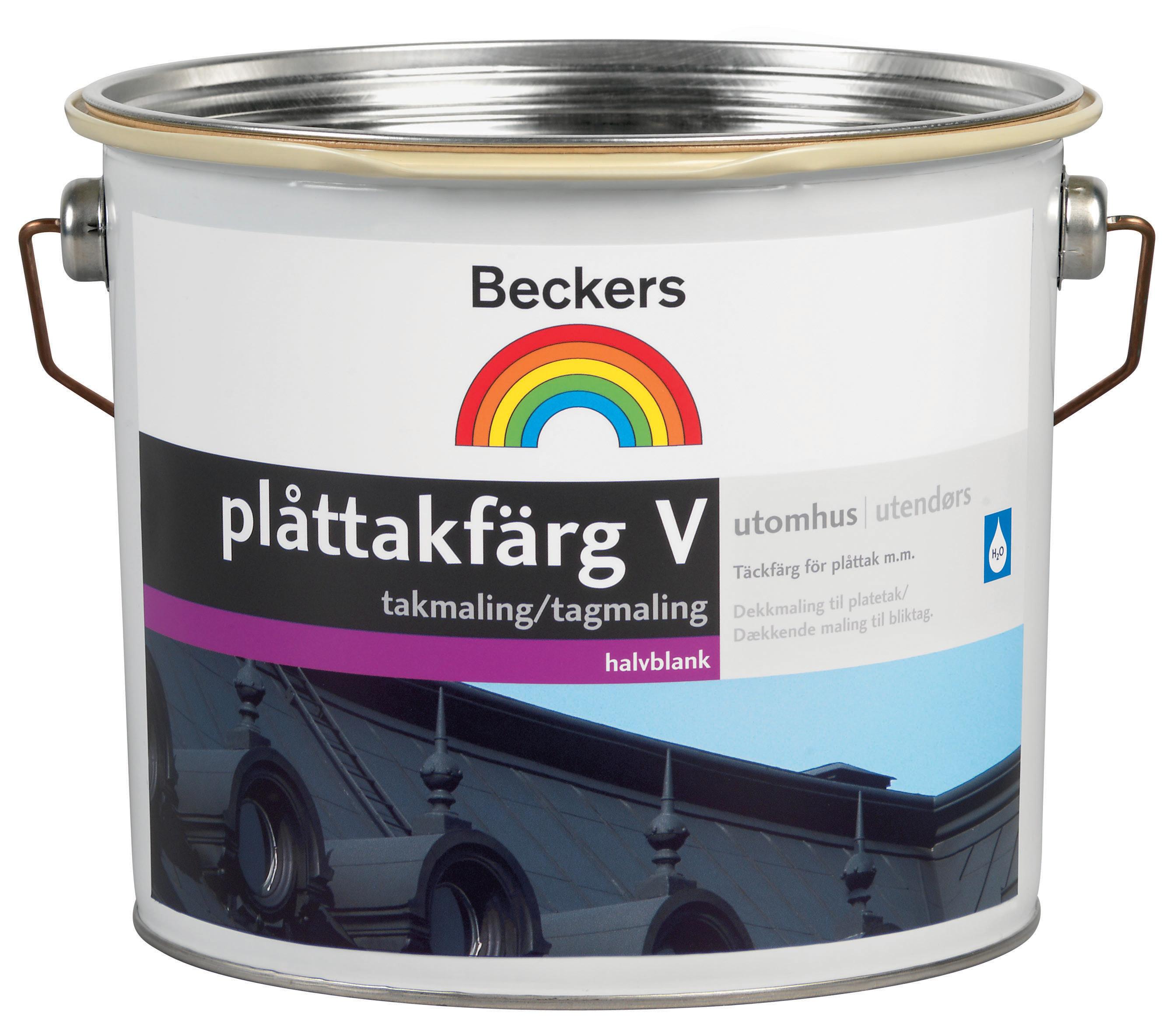 Plåttakfärg Beckers V Svart 10L