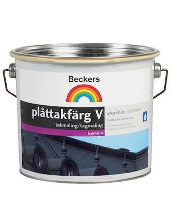 Plåttakfärg Beckers Vattenbaserad Svart 10L