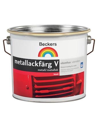 Metallackfärg Beckers Vattenbaserad Vit Bas A 2,7L