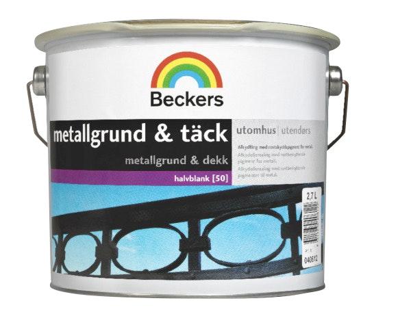Metallgrund & Täck Beckers Halvblank Vit/Bas A 2,7L