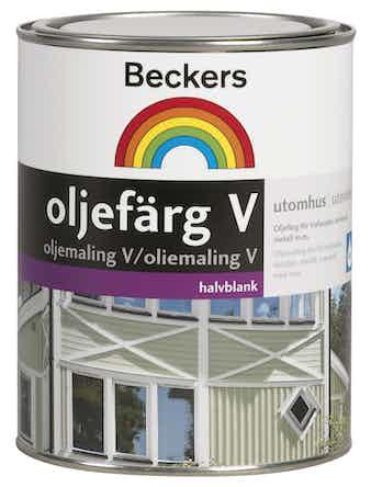 Oljefärg Beckers Vattenbaserad Vit 1L