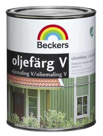 Oljefärg Beckers Vattenbaserad Utevit 1L