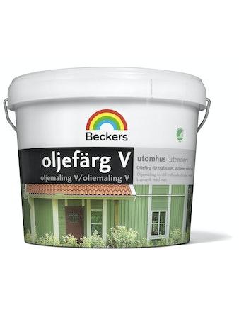 Oljefärg Beckers Vattenbaserad Utevit 3L