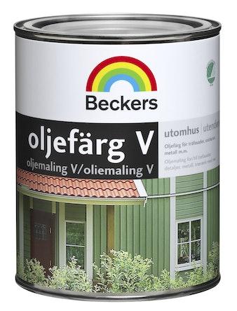 Oljefärg Beckers Vattenbaserad Faluröd 1L