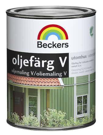 Oljefärg Beckers Vattenbaserad Bas A 0,9L