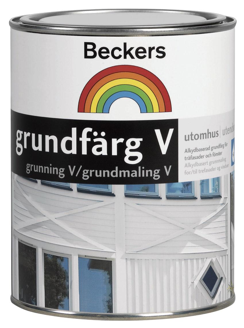 Grundfärg Beckers Vattenbaserad Vit 1L