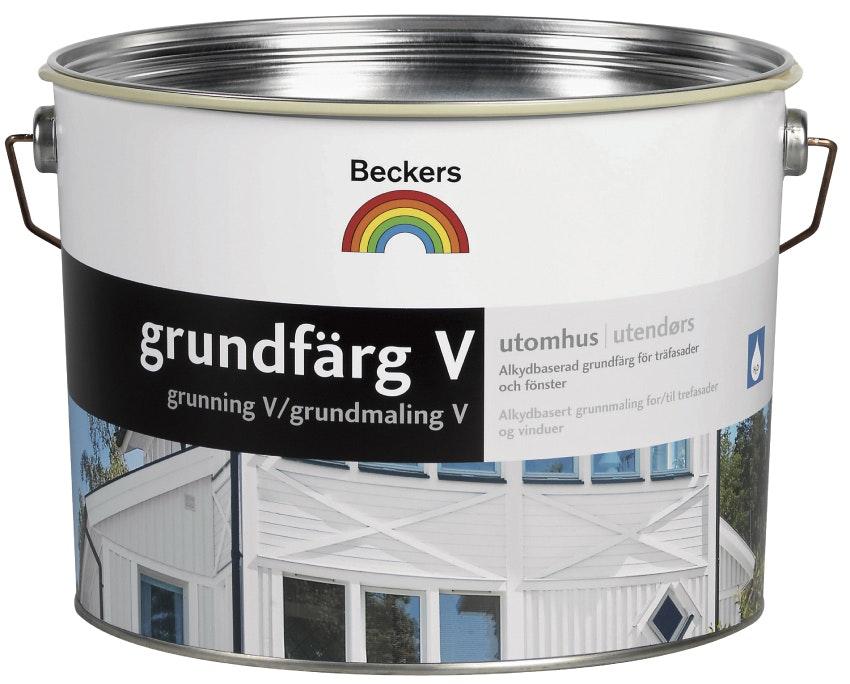 Grundfärg Beckers Vattenbaserad Vit 10L