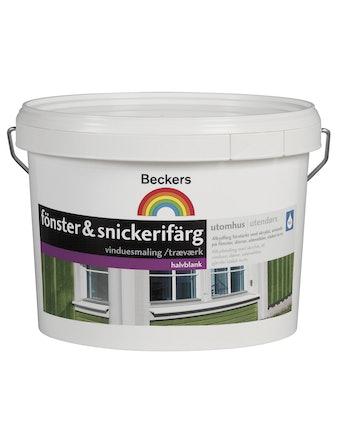 Utomhusfärg Beckers Fönster & Snickerifärg Vit 2,7 L