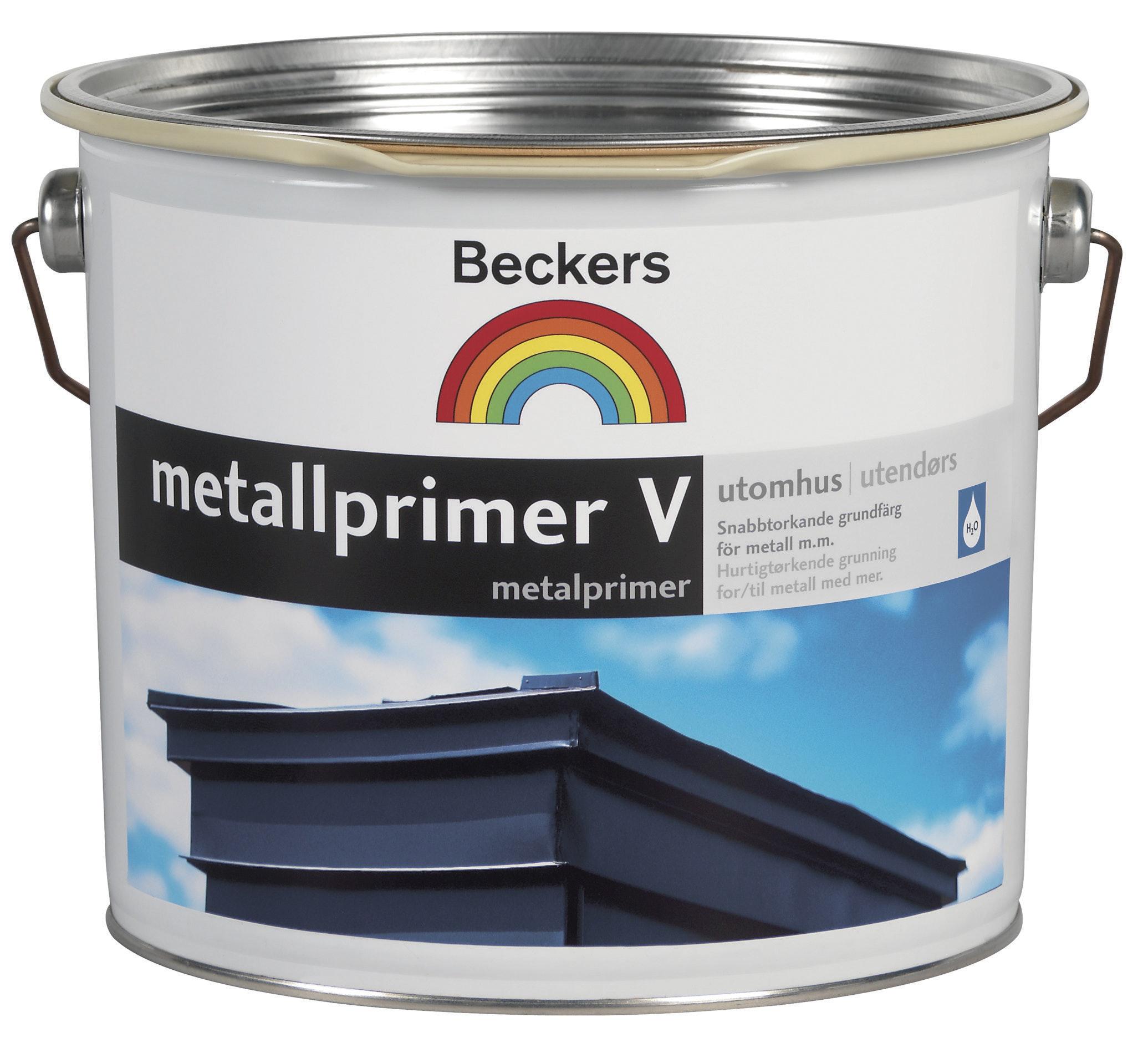 Metallprimer Beckers Vattenbaserad Grå 10L
