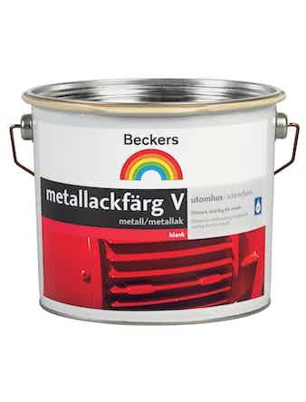 Metallackfärg Beckers Vattenbaserad Signalröd 2,7L