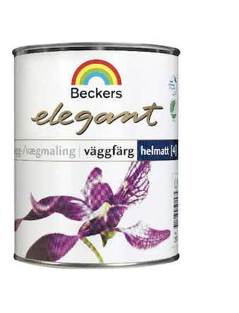 Väggfärg Beckers Elegant Helmatt Vit Bas A 0,9L