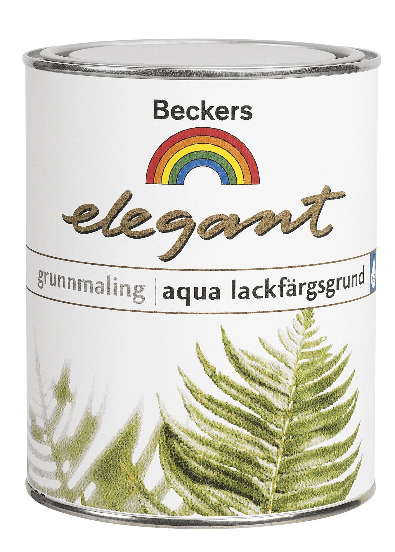 Lackfärgsgrund Beckers Aqua Elegant Vit 0,9L