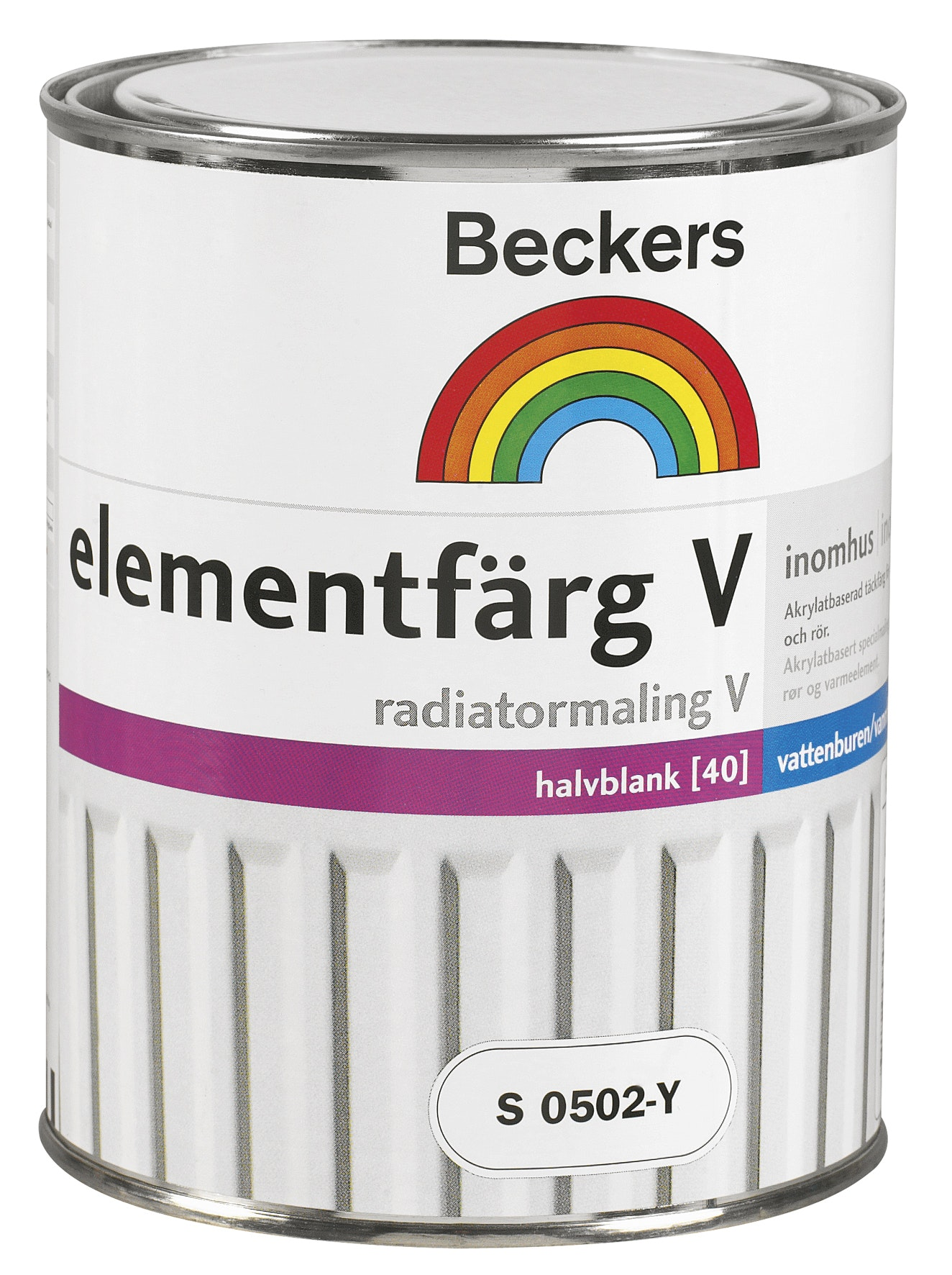 Elementfärg Beckers V Halvblank Antikvit 1l