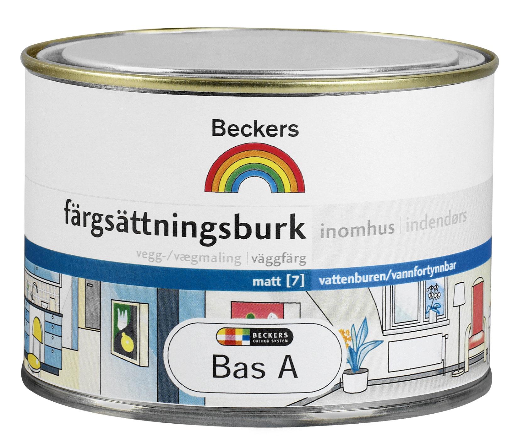 Färgsättningsburk Beckers Inne Bas A 0,45l