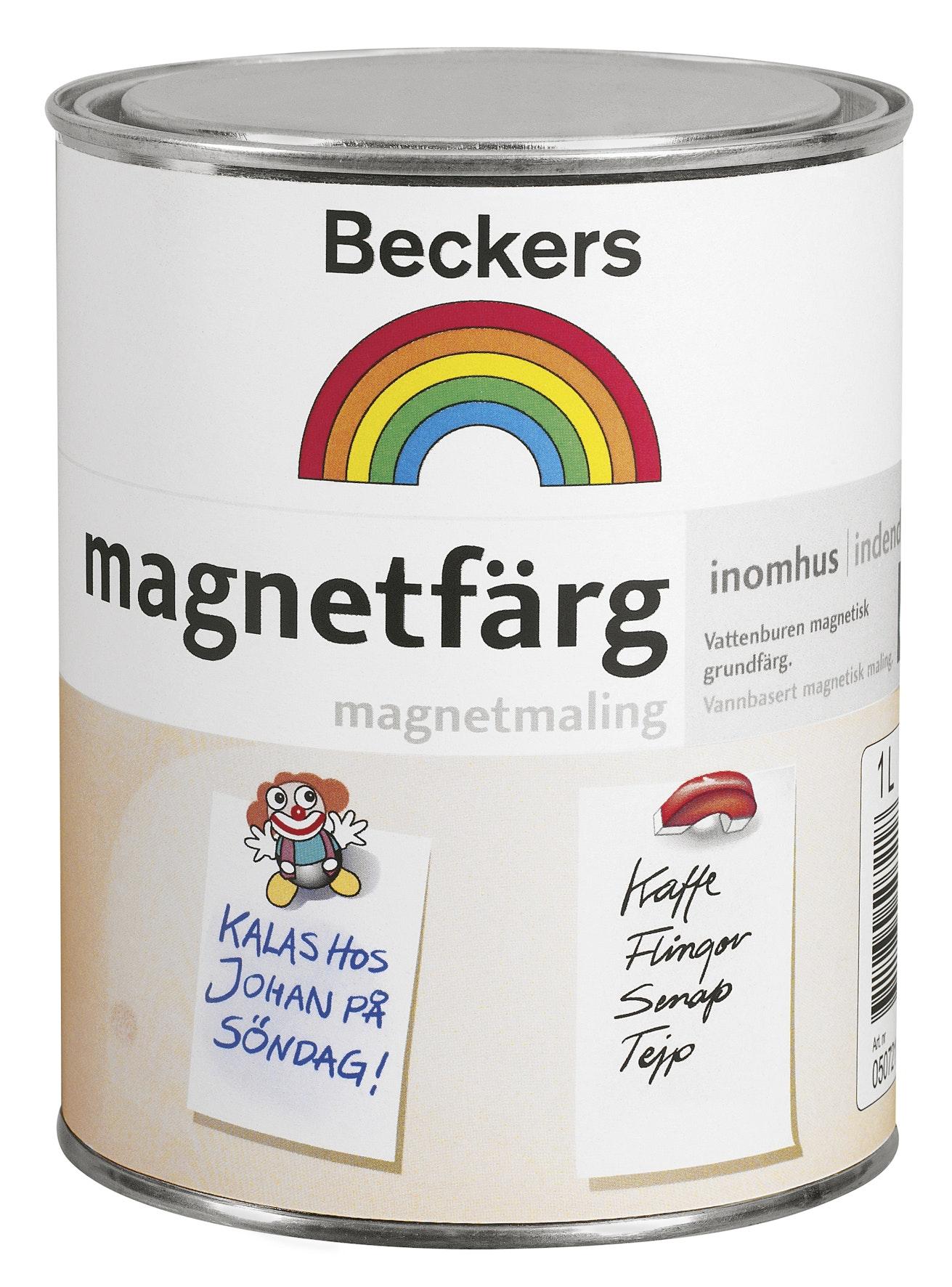 Magnetfärg Beckers Matt Mörkgrå 1l