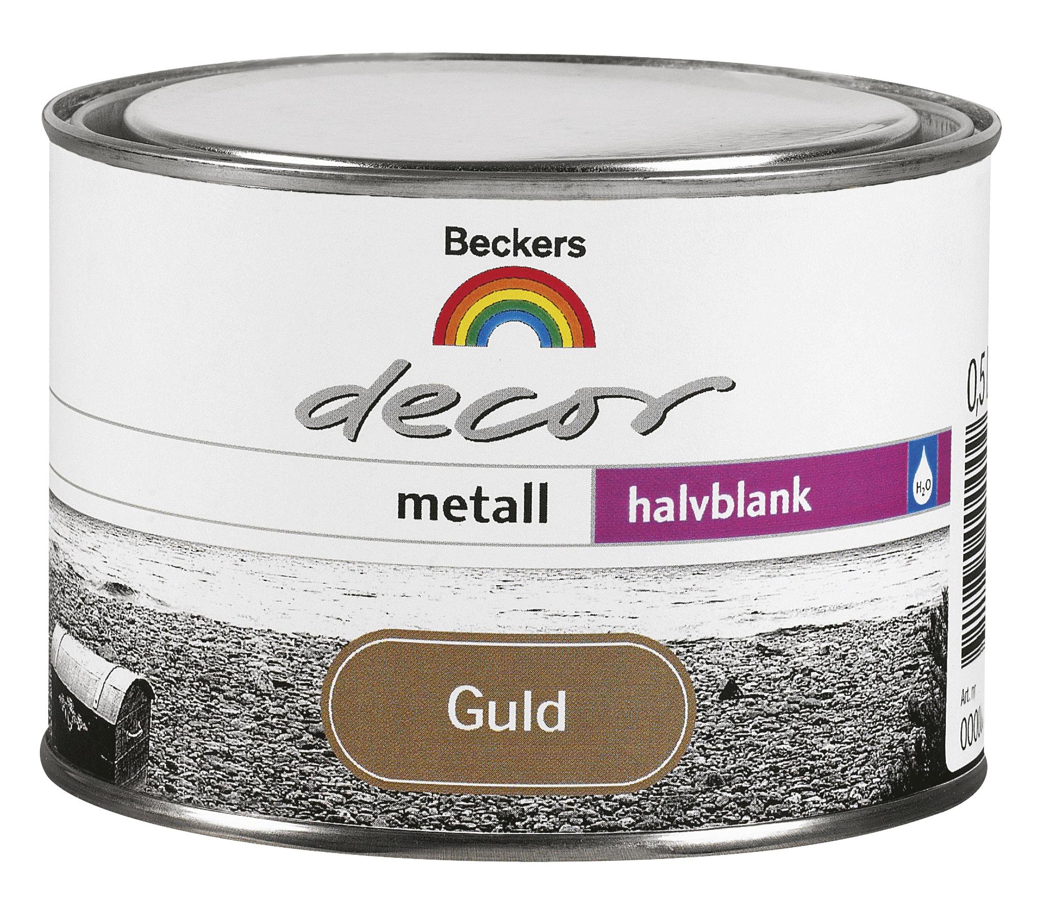 Grund- och Täckfärg Beckers Decor Metall Halvblank Guld 0,5l