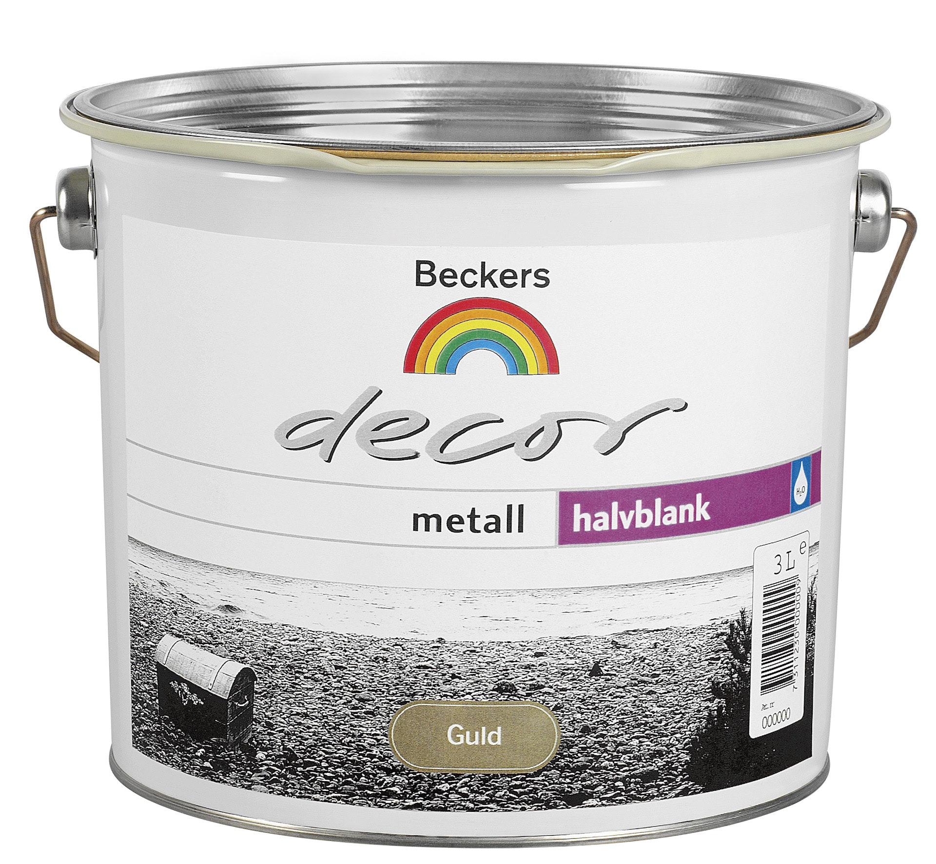 Grund- och Täckfärg Beckers Decor Metall Halvblank Guld 3l
