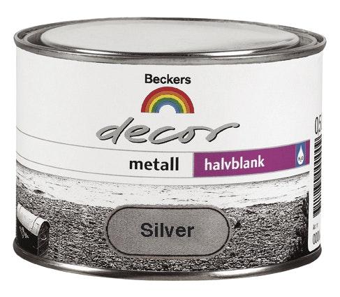 Grund- och Täckfärg Beckers Decor Metall Halvblank Silver 0,5l
