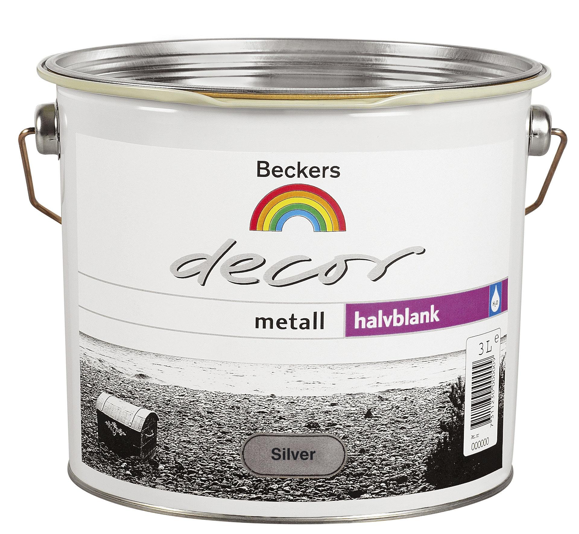Grund- och Täckfärg Beckers Decor Metall Halvblank Silver 3l