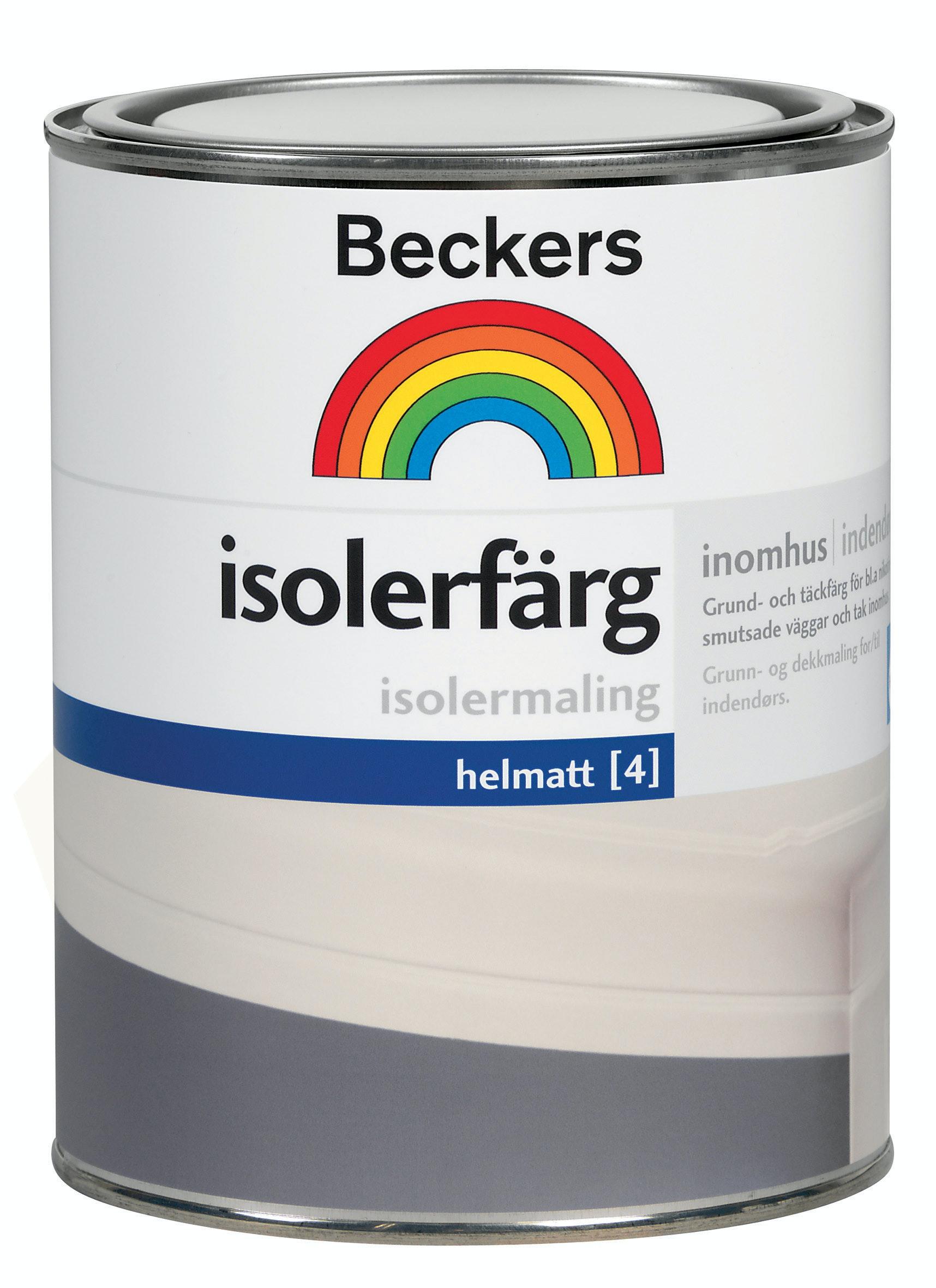 Isolerfärg Beckers Helmatt Vit 1l
