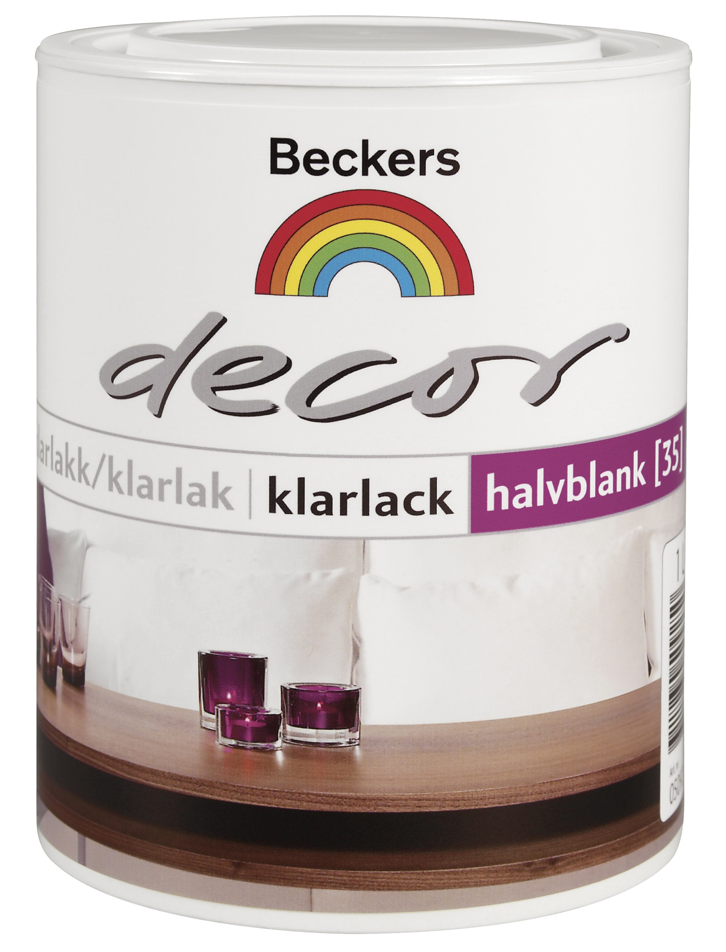 Klarlack Beckers Decor Halvblank 1l