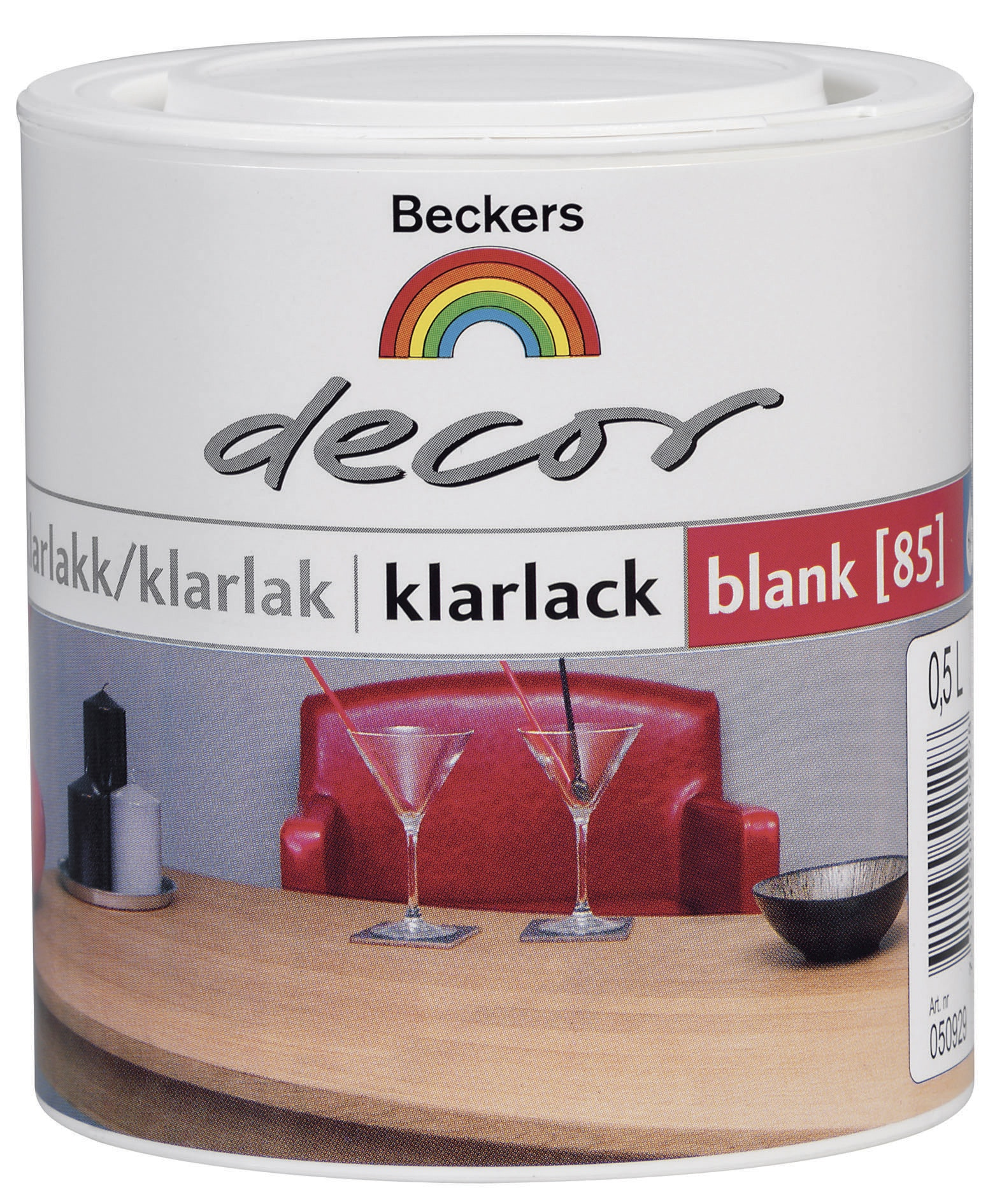 Klarlack Beckers Decor Blank 0,5l