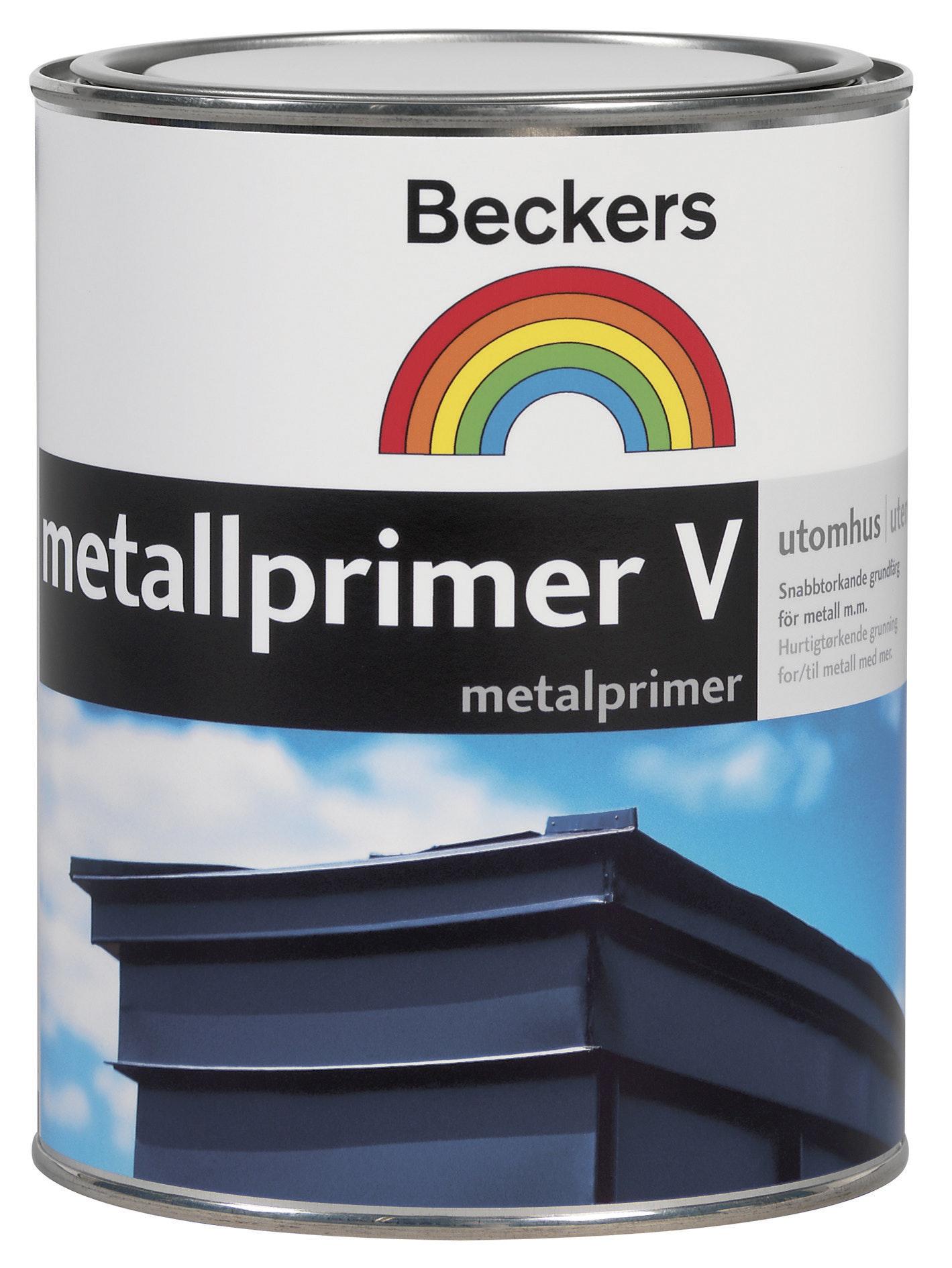 Metallprimer Beckers V Grå 1l