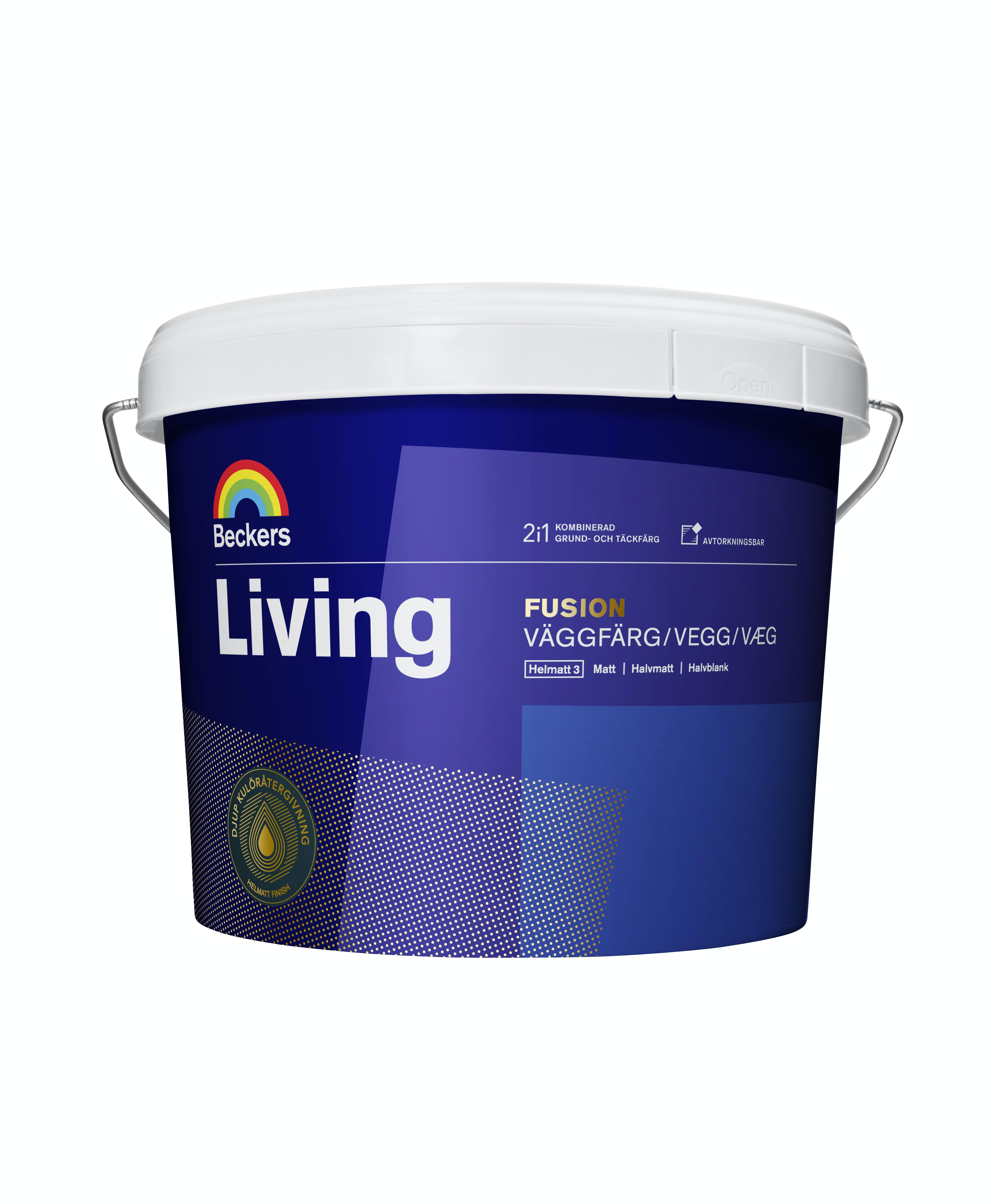 Vägg- och grundfärg Beckers Living Fusion Vit/Bas A 2,7l