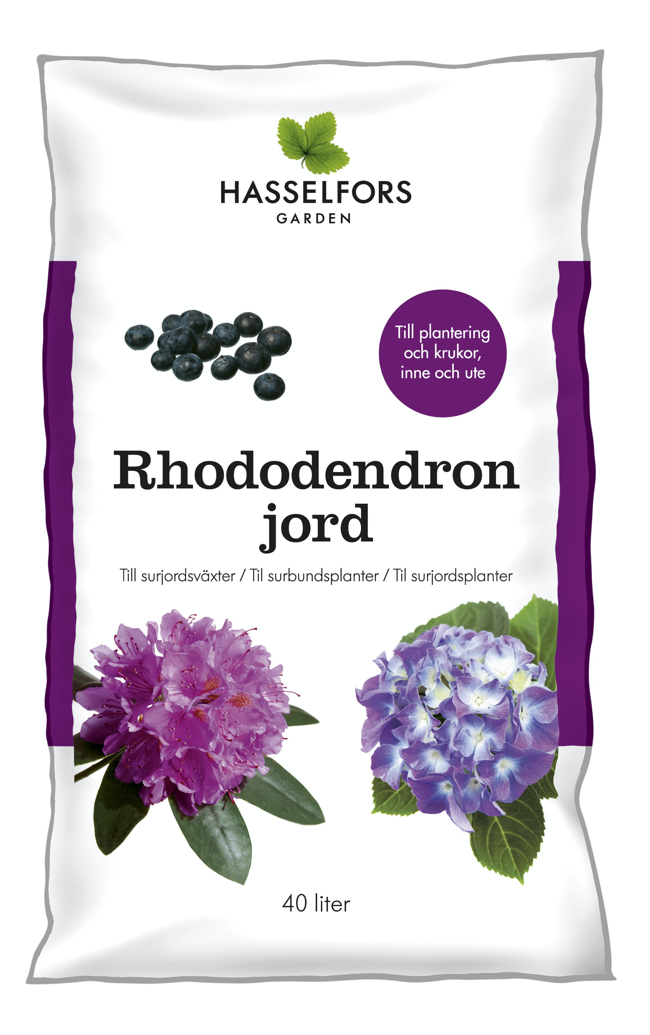 Rhododendronjord Hasselfors 40L