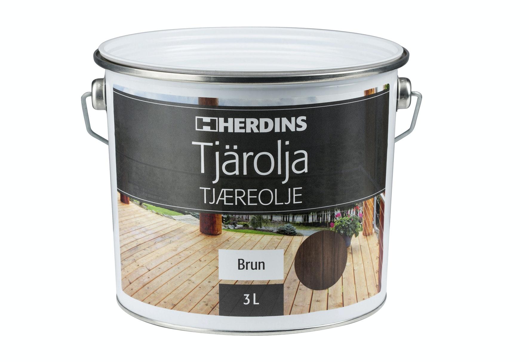 Tjärolja Herdins Brun 3l