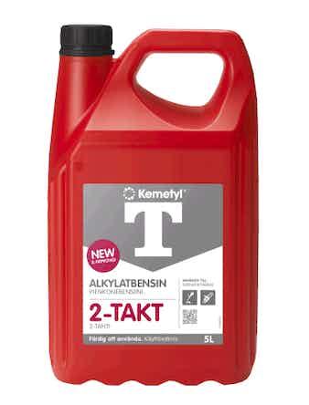 T-Alkylatbensin Kemetyl 2-takt med Gulf Inside 5 Liter