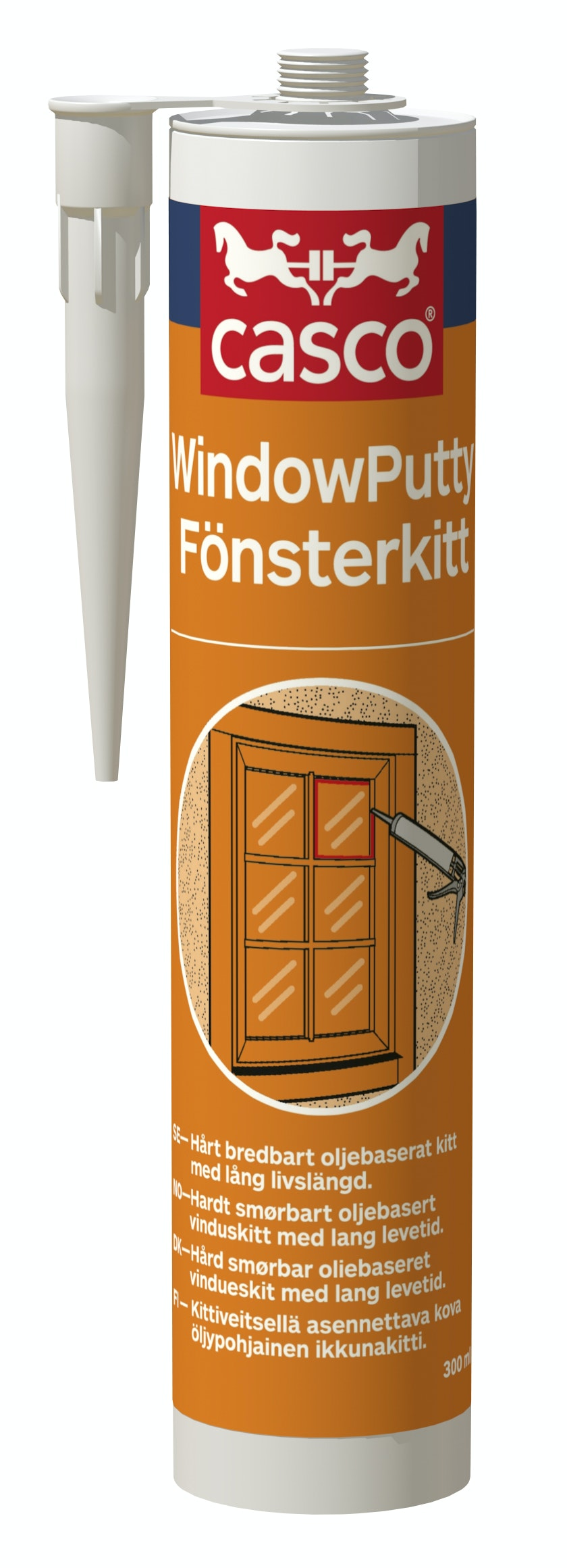 Fogmassa Casco WindowPutty Fönsterkitt Beige/Natur 300ml