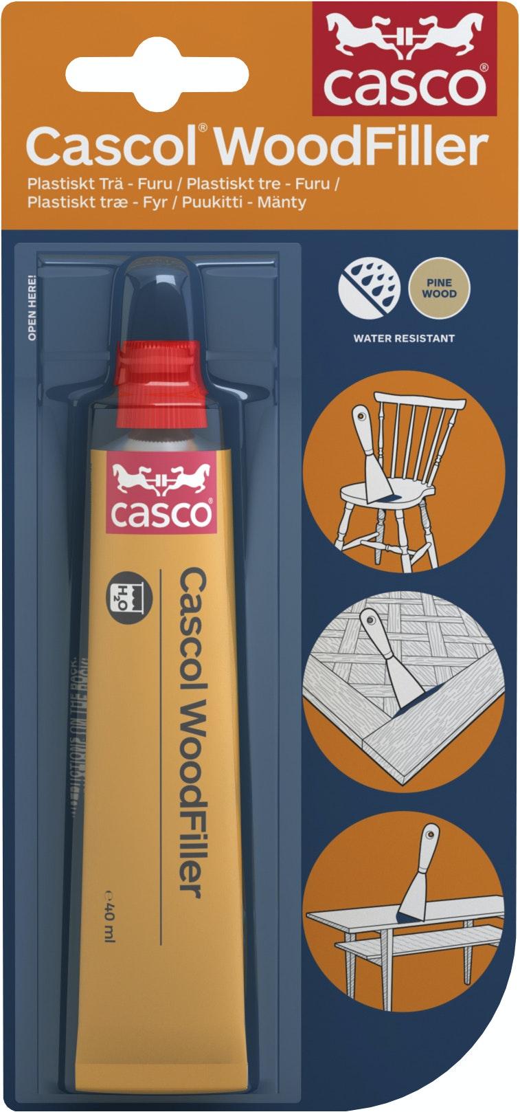 Trälim Casco Cascol Woodfiller Plastiskt trä/Furu 40ml