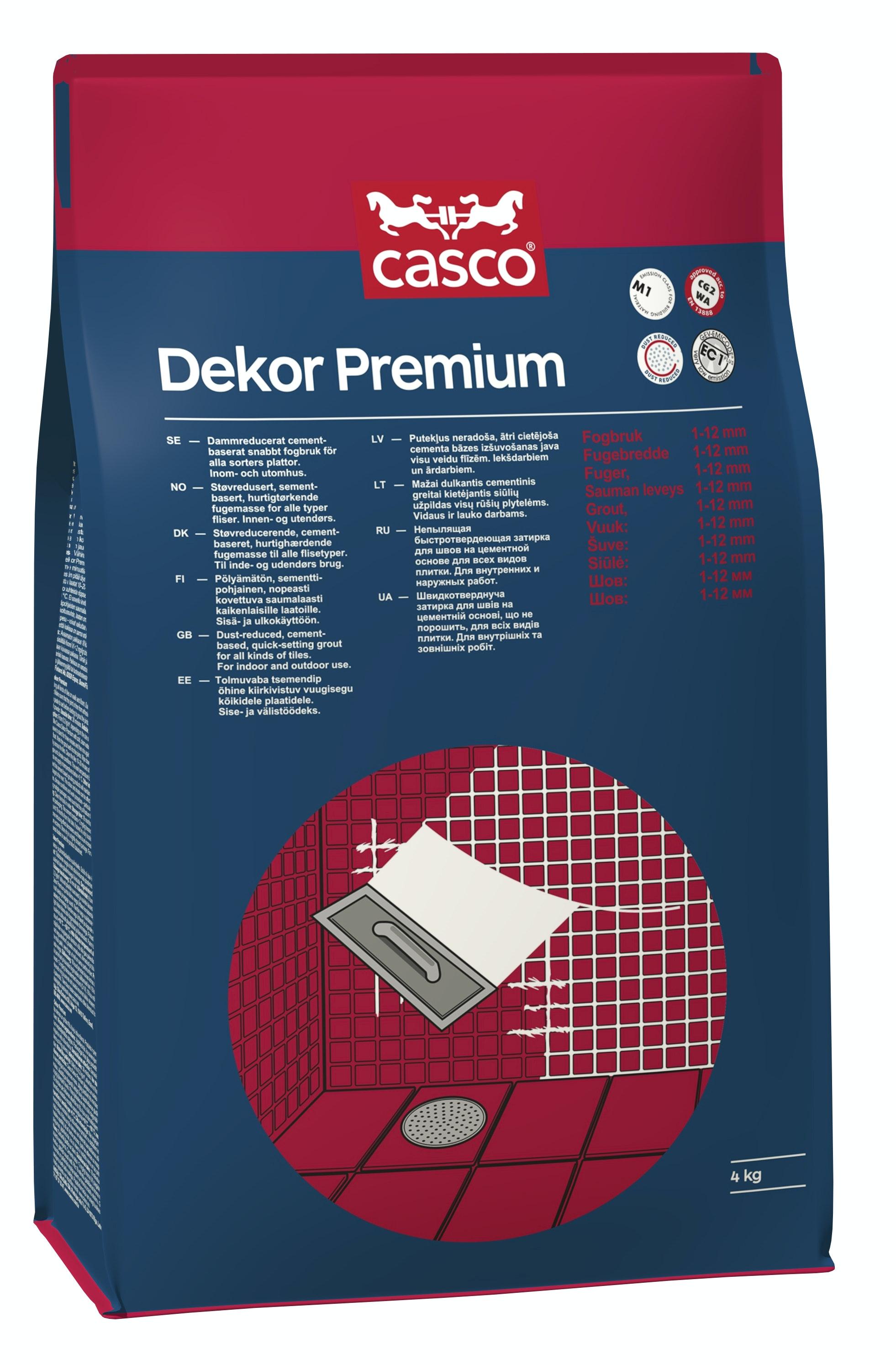 Fogmassa Casco Dekor Premium Ljusgrå/Silver 4kg