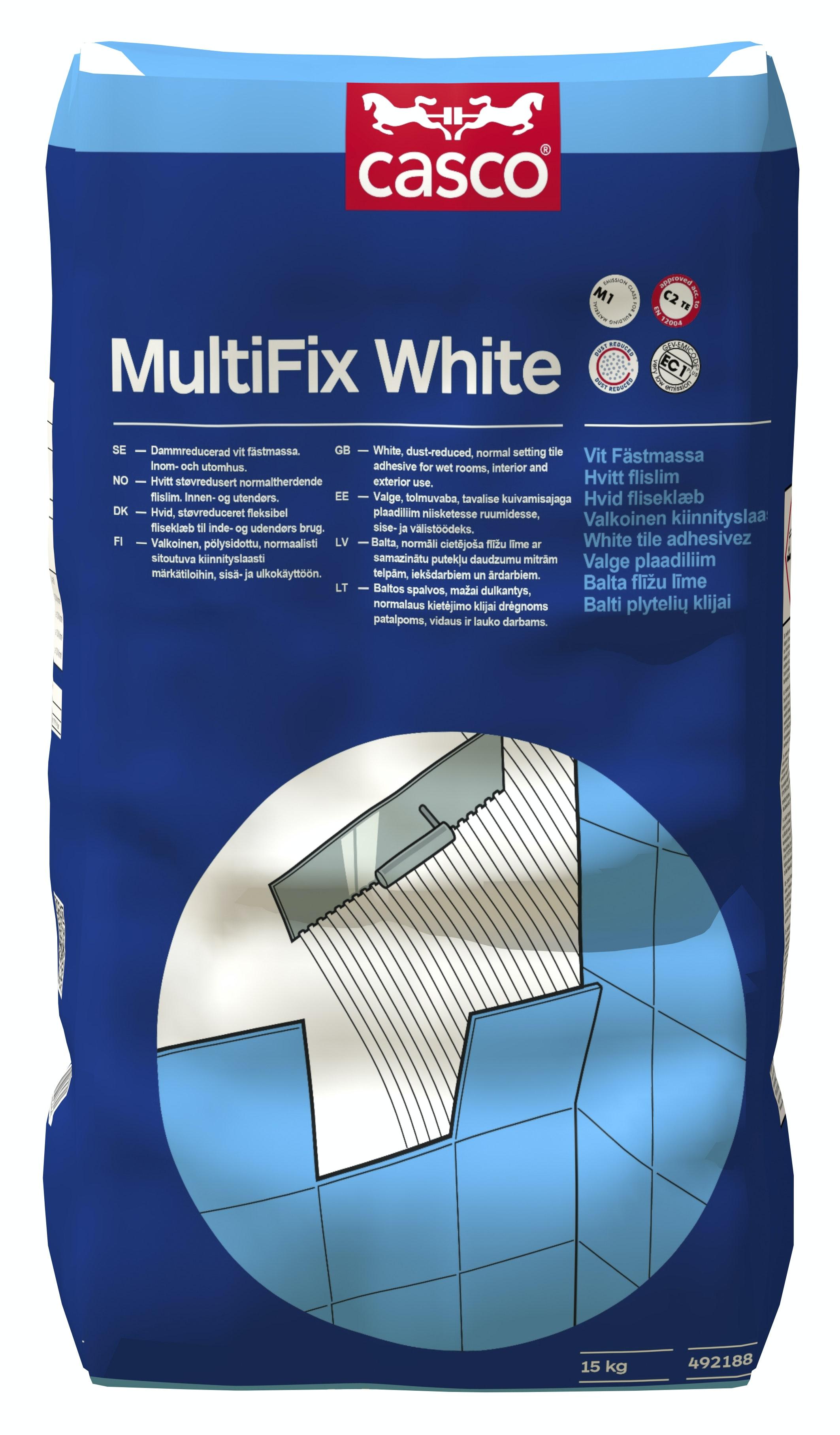 Fästmassa Casco Multifix vit 15kg