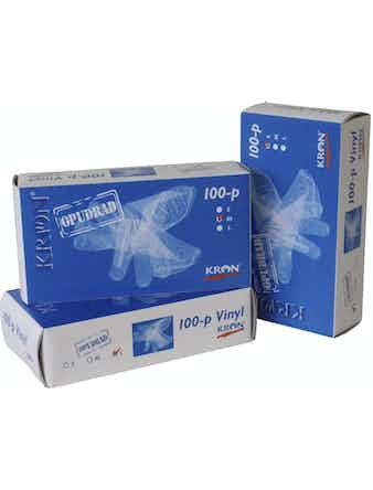 Handske Kron Vinyl Puderfri 12766 100-Pack