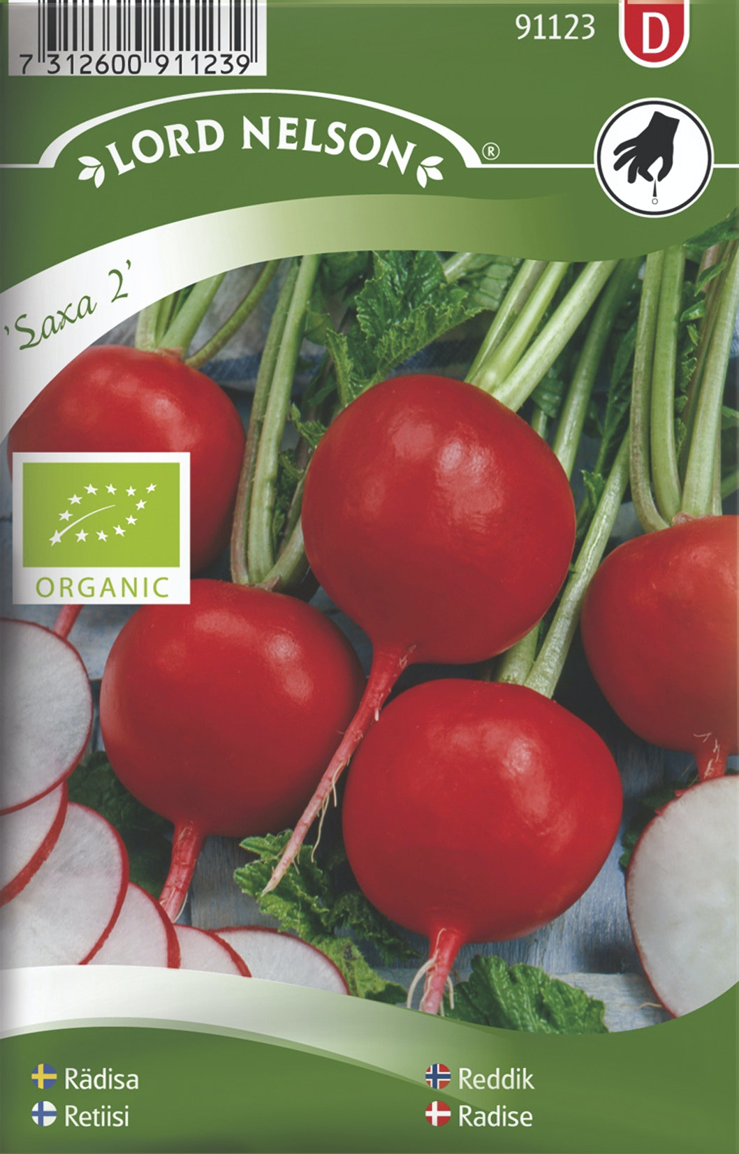 Rädisa Lord Nelson Saxa 2 Rund Organic