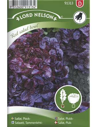 Sallat Lord Nelson Plock Red Salad Bowl Röd