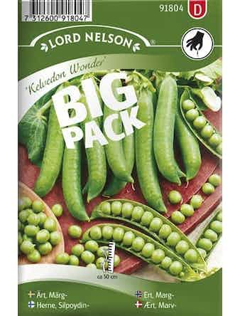 Ärt Lord Nelson Märg-Kelvedon Wonder Big Pack