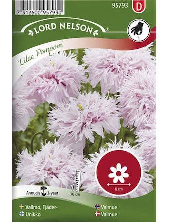 Vallmo Lord Nelson Fjäder-Lilac Pompom