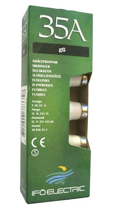 Säkring Opal Trög Diazed 35A 500V 5-Pack