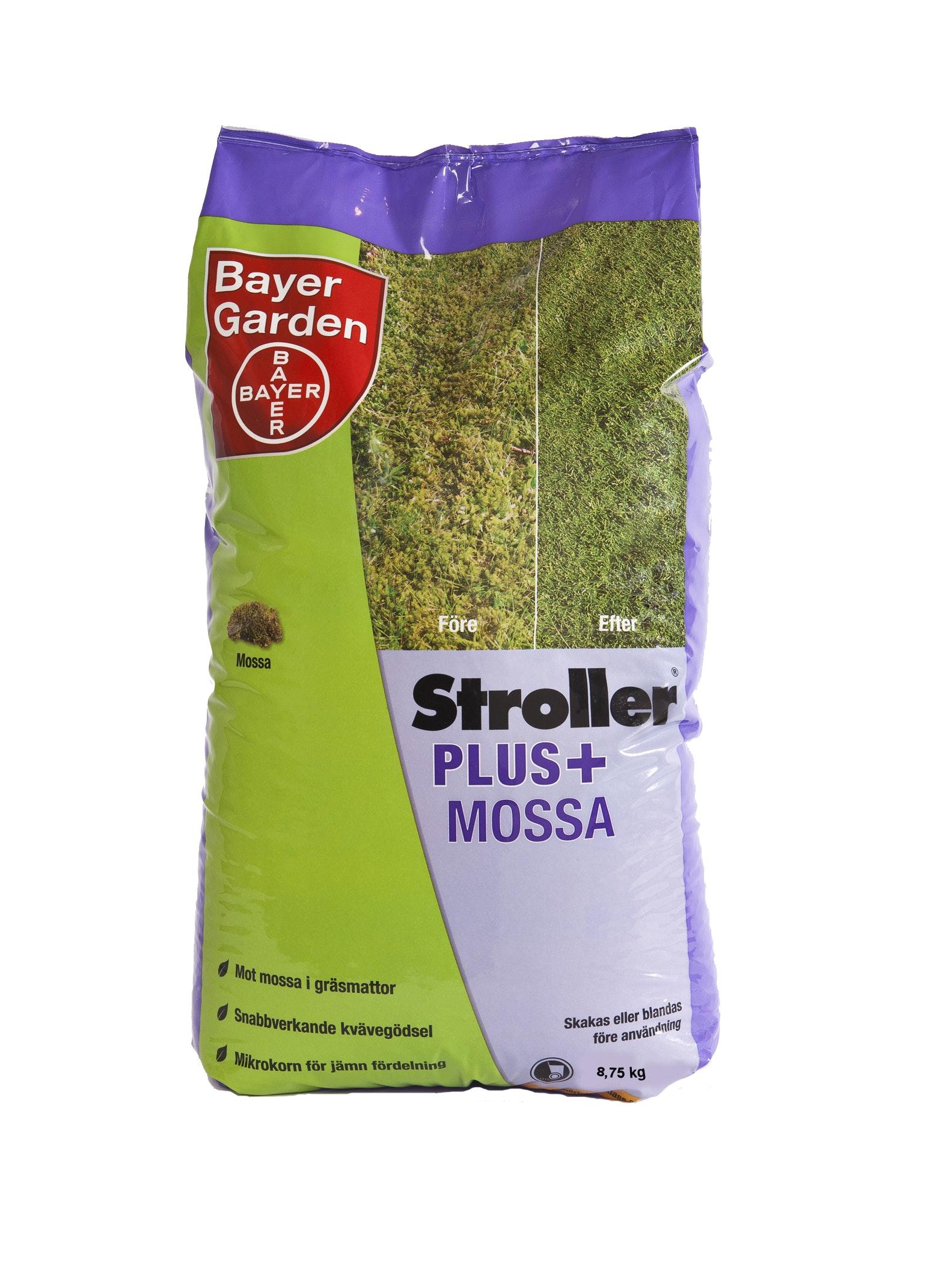 Gräsgödsel Bayer Stroller Mossa+ 8,75kg 250m²