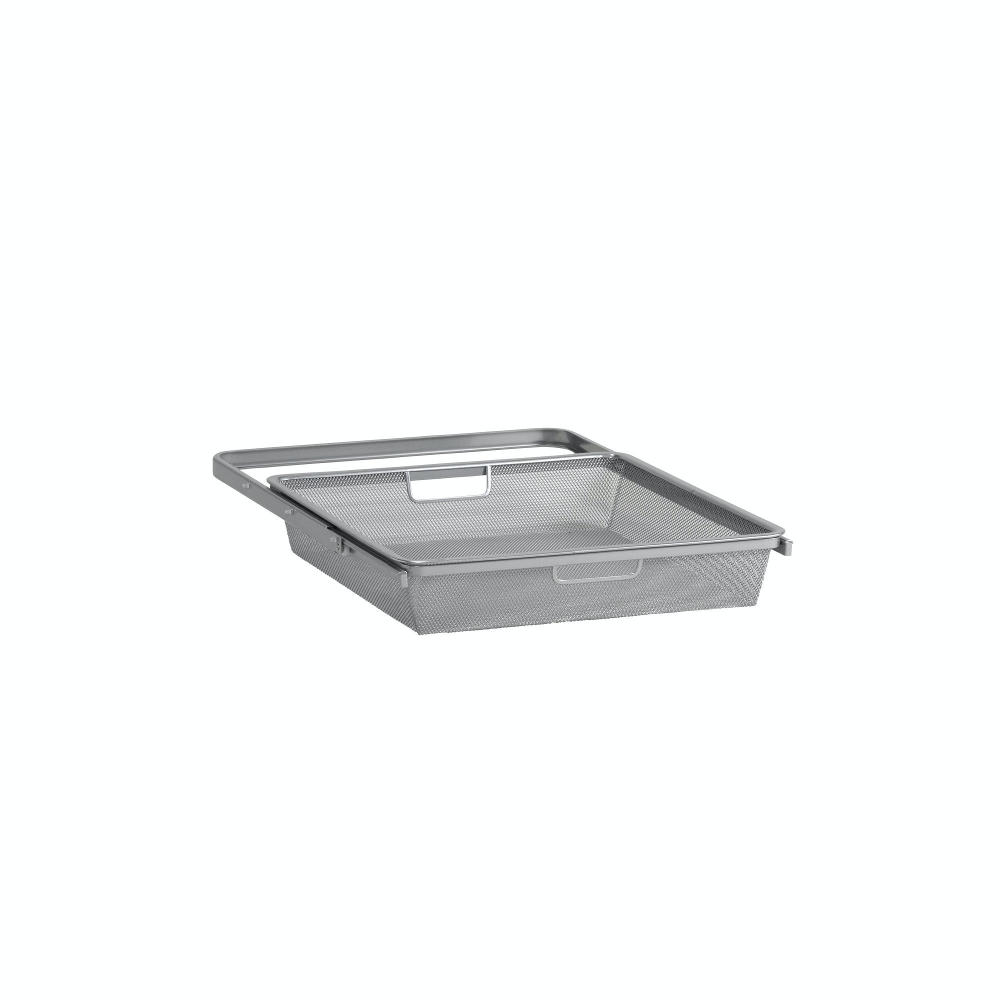 Mesh-Back Elfa Med utdragsram 450x85mm platinum
