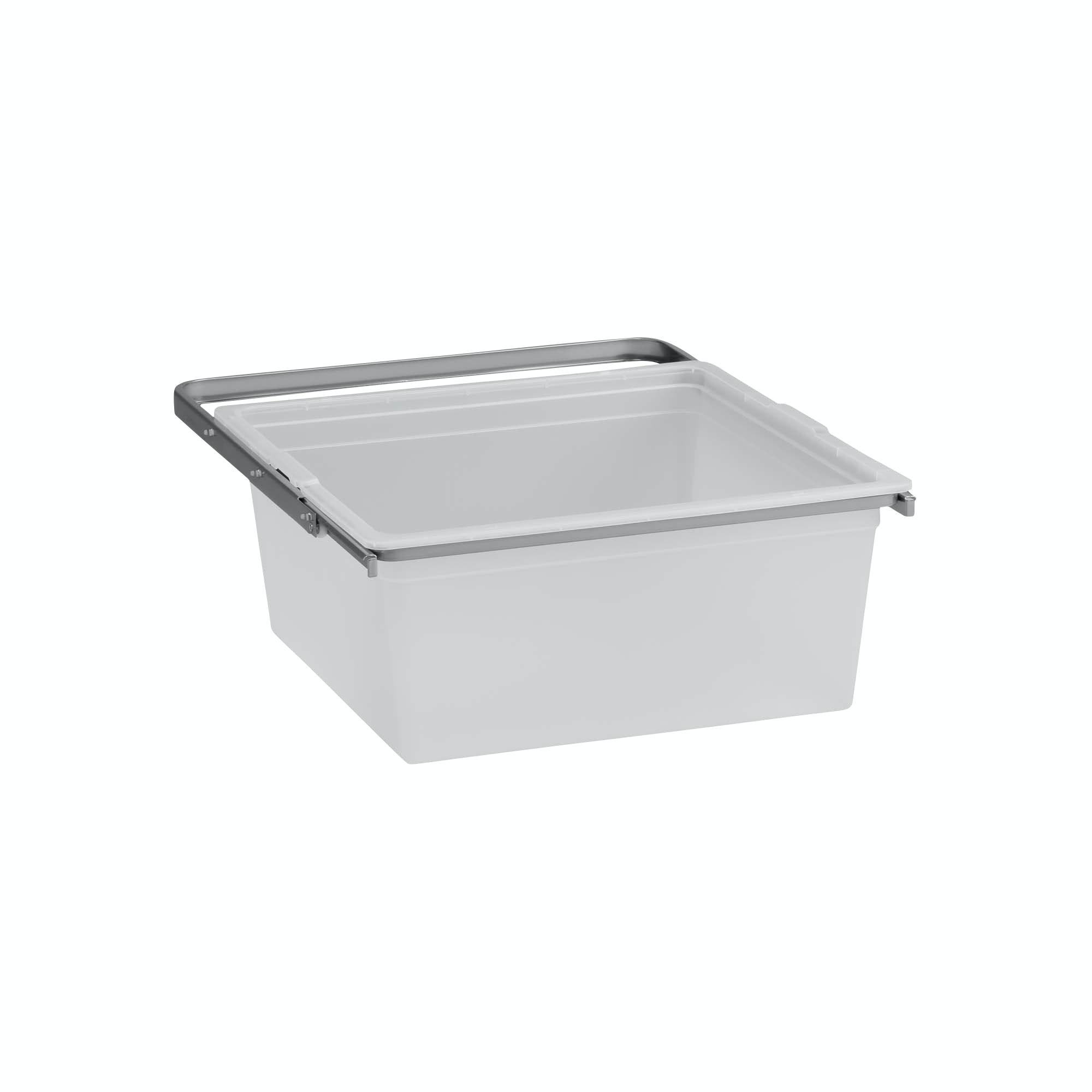 Back Elfa Solid Platinum Utdragbar 448x436x188mm