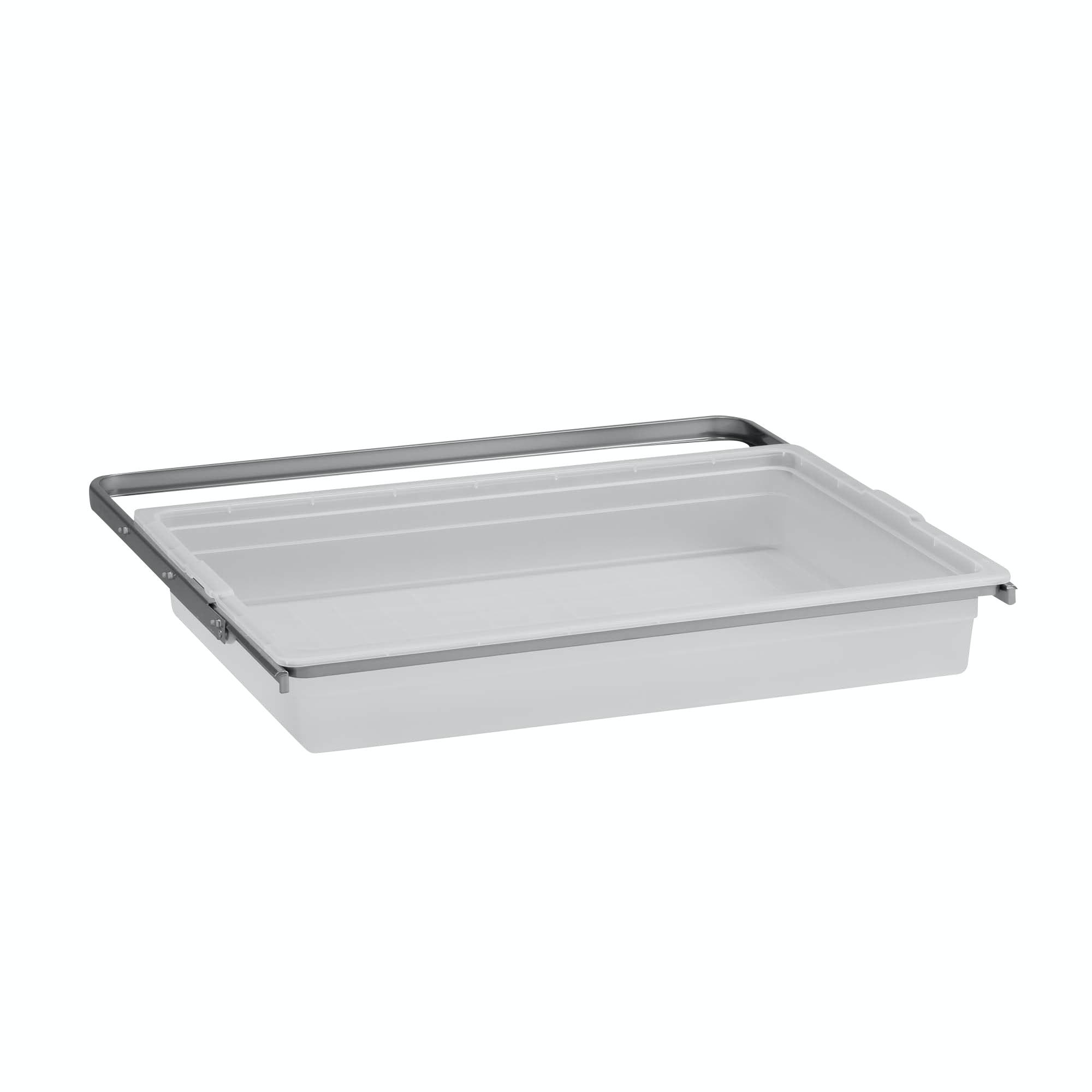 Back Elfa Utdragbar Solid Platinum 605x436x88mm