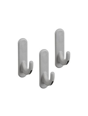 Krokar Elfa Utility Rundad Platinum 3-pack 15X40X62mm