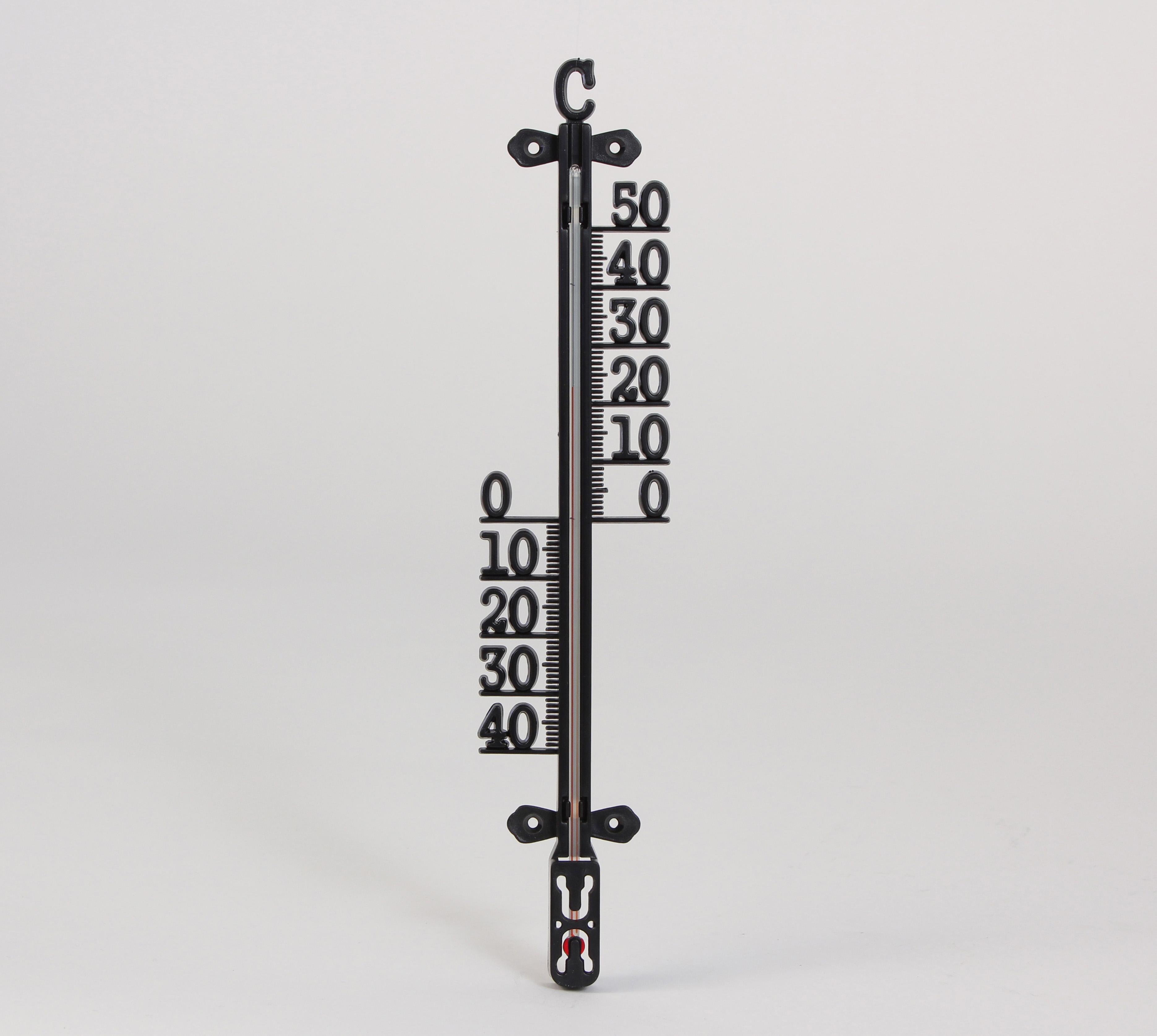 Termometer Cofa För Inne Och Ute Svart 290mm - K-rauta 88c6f295cdeb0
