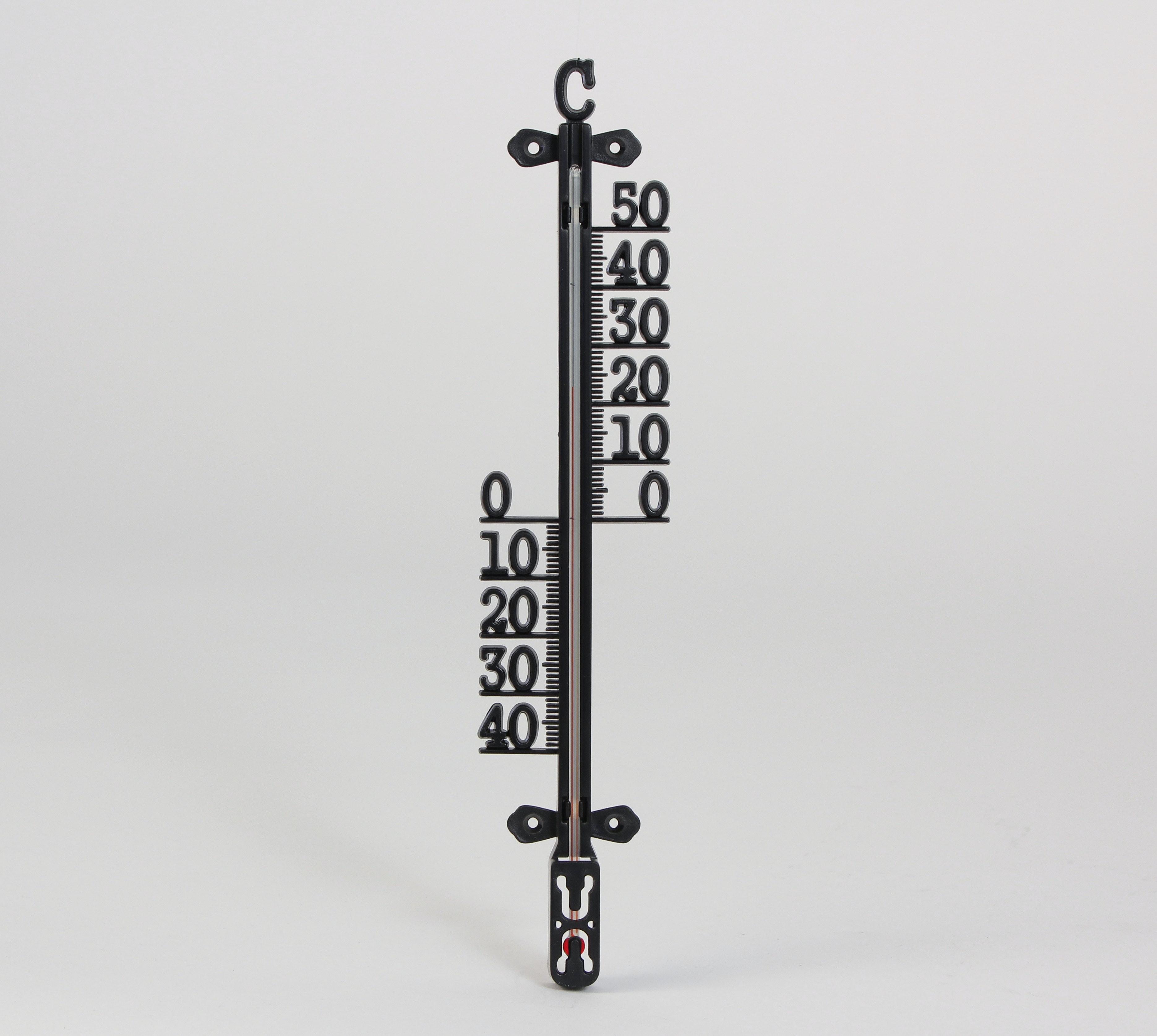 Termometer Cofa För Inne Och Ute Svart 420mm