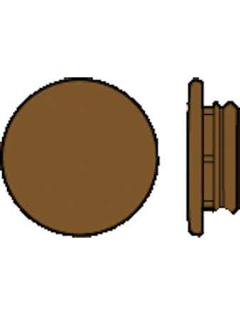 Täcklock Essve 8010-Y70R Ø14/19 Mörkbrun 20-Pack
