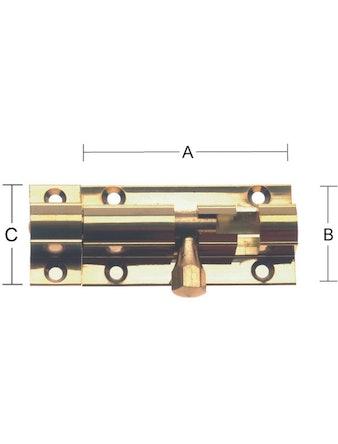Skjutregel Habo 4539 50mm Polerad Mässing